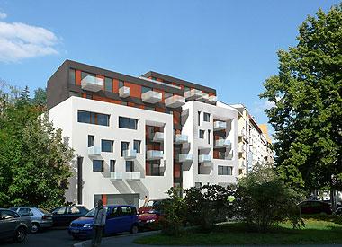 Byty pod Vyšehradem, nový bytový dům v ul. Sinkulova, Praha 4 - Podolí